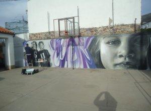 Arte mural contra la violencia de género.