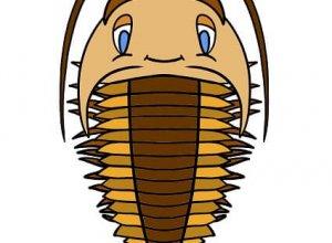 Este es Huellitas, mascota del Centro de Interpretación de los Mares Antiguos de Monsagro.