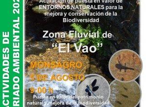 Día del voluntariado ambiental, jueves 5 de agosto.